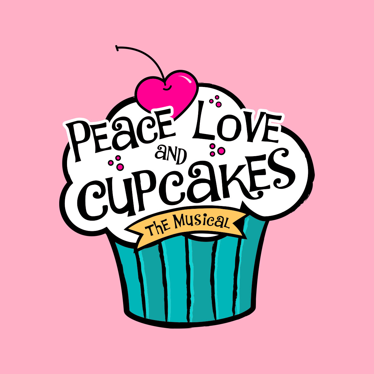 Peace, Love and Cupcakes Logo Pack
