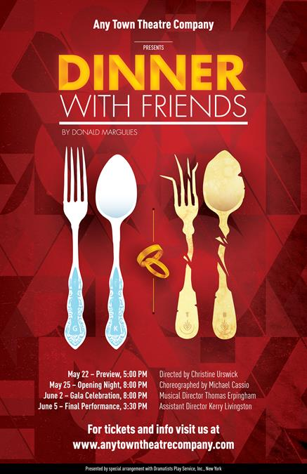 Customize Your Dinner With Friends Poster Design