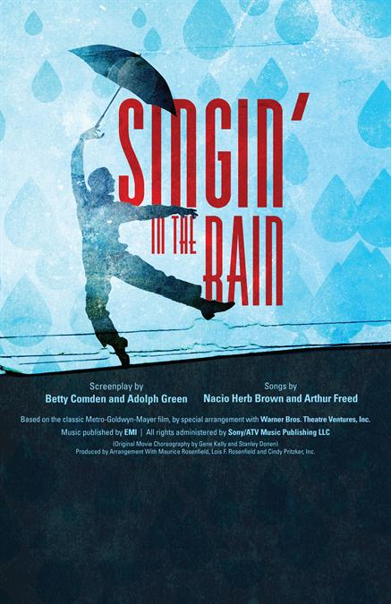 Singin' In The Rain Theatre Poster