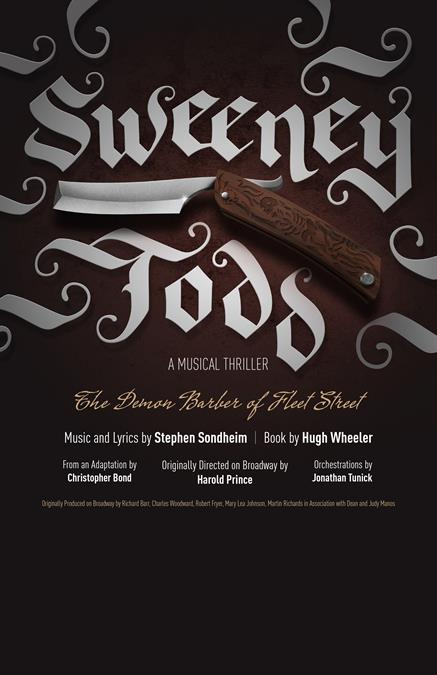 Sweeney Todd Theatre Poster