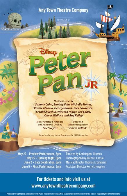 Customize Your Disneys Peter Pan JR Poster Design - Disney flyer template
