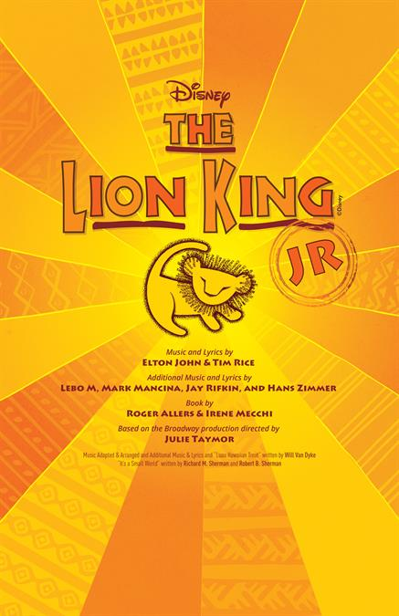 Disney's The Lion King JR. Theatre Poster