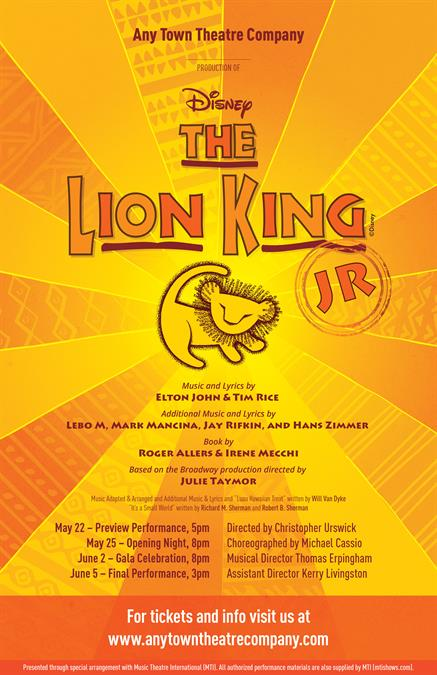 The Lion King JR. Poster