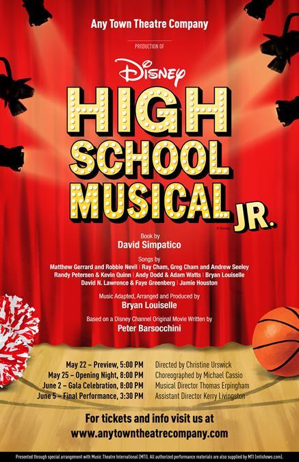 Customize Your High School Musical JR. Poster Design