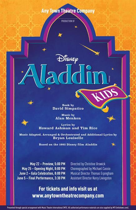 Customize Your Disneys Aladdin KIDS Poster Design - Disney flyer template