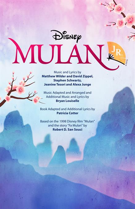 Disney's Mulan JR. Theatre Poster