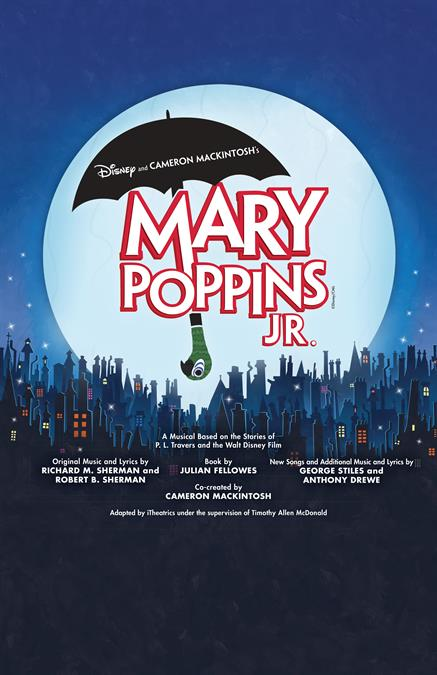 Disney's Mary Poppins JR. Theatre Poster