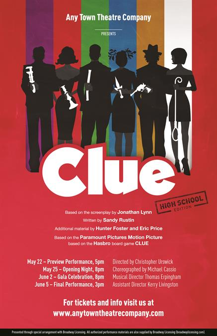Clue (High School Edition) Poster