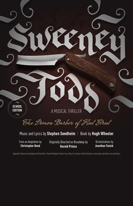 Sweeney Todd (School Edition) Theatre Poster