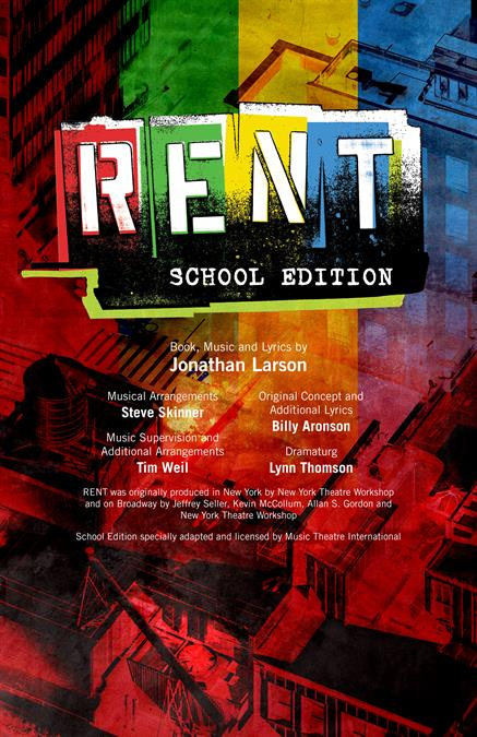 Rent (School Edition) Theatre Poster