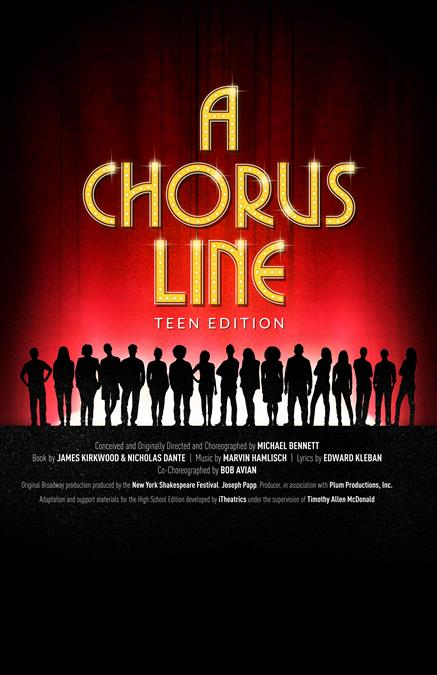 A Chorus Line (High School Edition) Theatre Poster