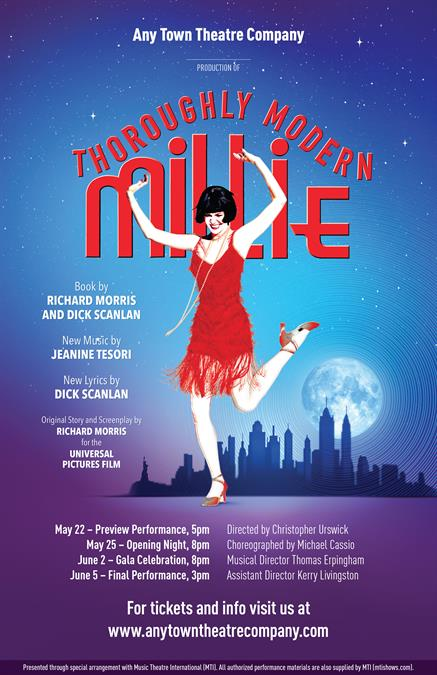 Fingers Holding Poster Thoroughly Modern Millie Background