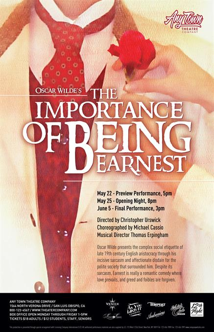 Customize poster for The Importance of Being Earnest