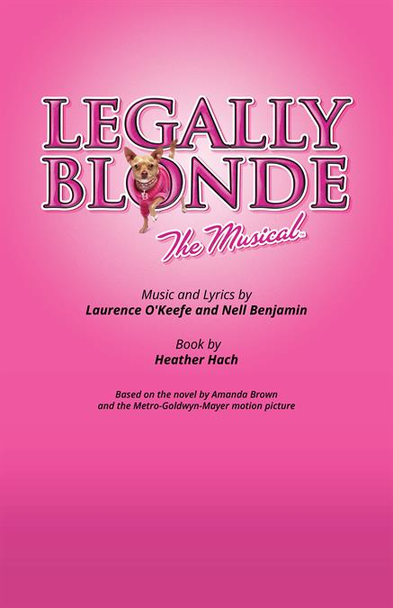 Legally Blonde Theatre Poster