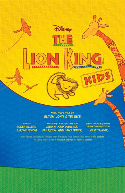 Disneys The Lion King Kids Customizable Poster