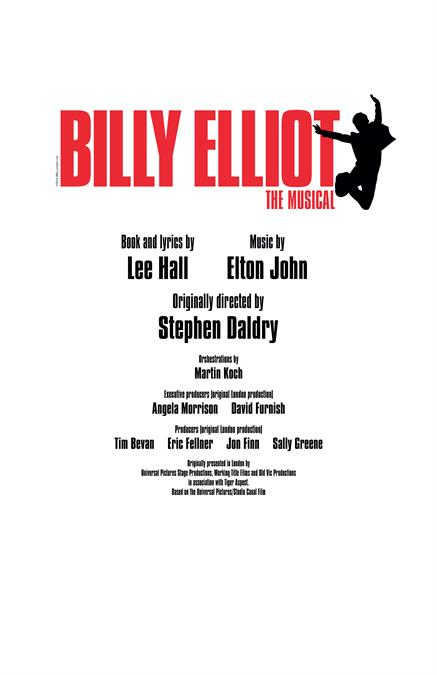 Billy Elliot Theatre Poster