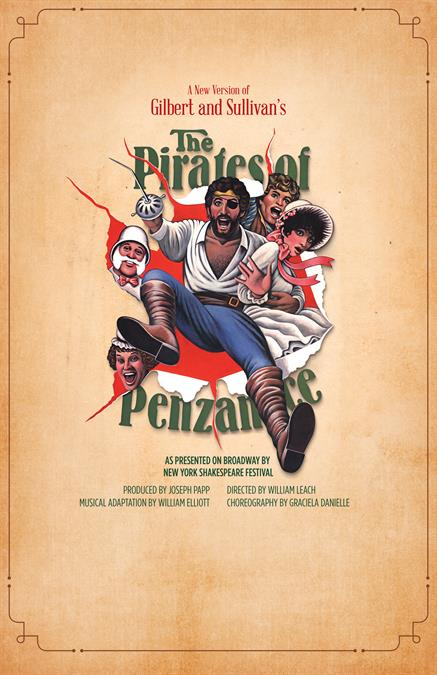 The Pirates of Penzance Theatre Poster