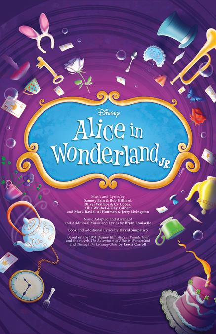 Alice in Wonderland JR. Theatre Poster