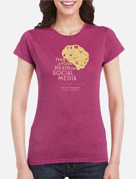 Women's This Is Your Brain on Social Media T-Shirt