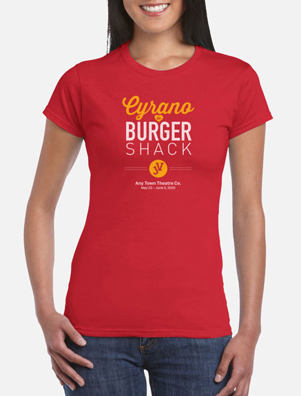 Women's Cyrano de Burger Shack JV T-Shirt