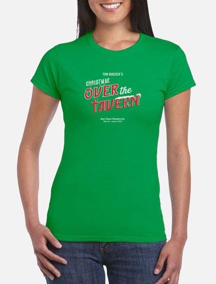 Women's Christmas Over the Tavern T-Shirt