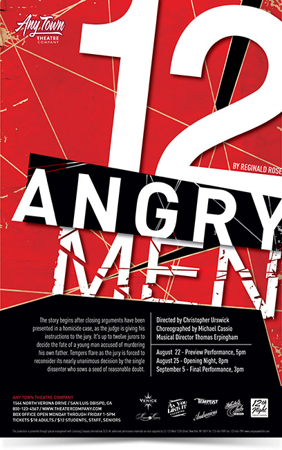 12 Angry Men Theatre Poster Designed by Subplot Studio