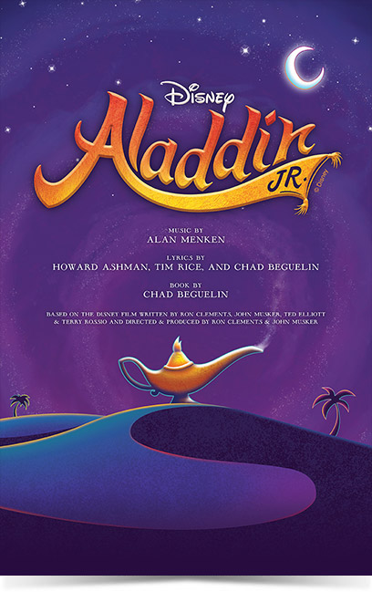 Aladdin JR Theatre Poster created by Subplot Studio