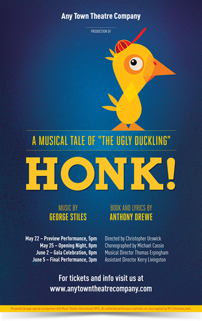 Honk Theatre Poster Designed by Subplot Studio