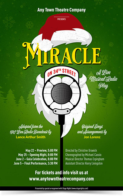Miracle on 34th Street Theatre Poster Designed by Subplot Studio