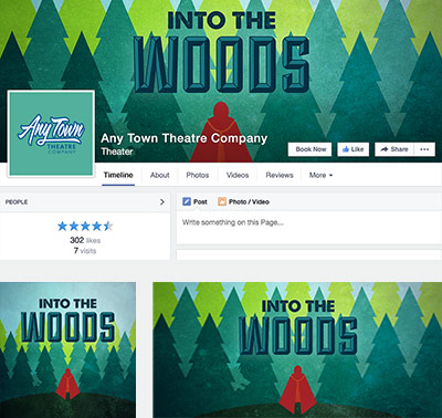 Into the Woods Social Media Graphics