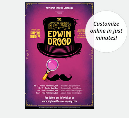 Edwin Drood Poster Designed by Subplot Studio
