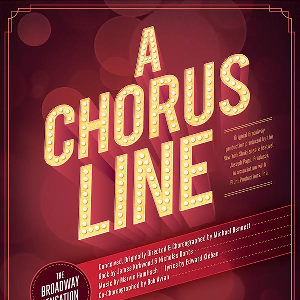 A Chorus Line Poster Design and Logo Pack