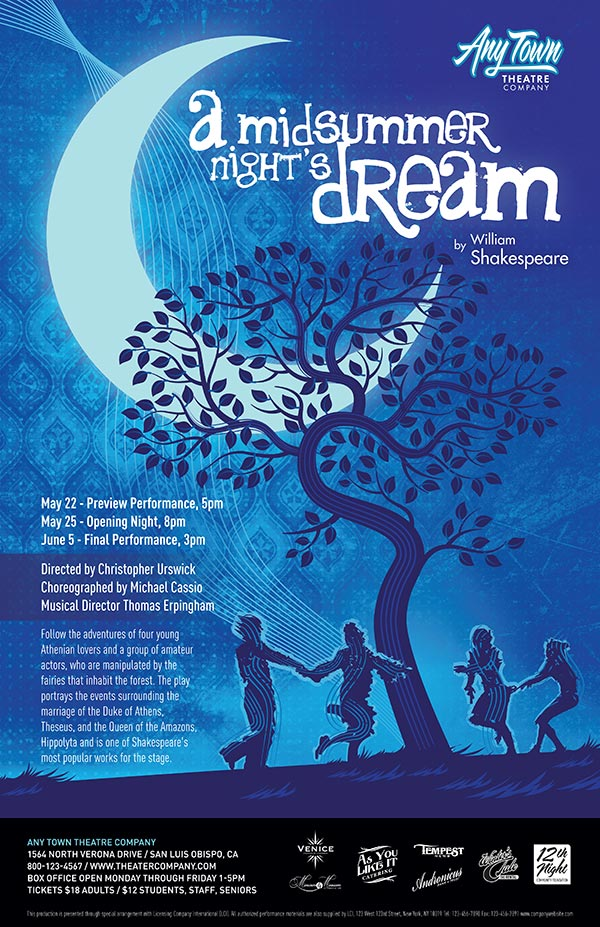 A Midsummer Night's Dream Poster Design | Subplot Studio