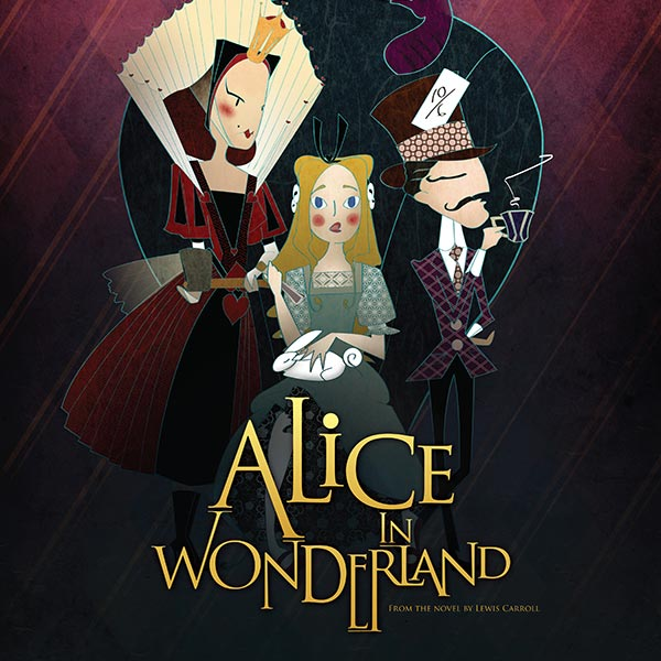 Alice in Wonderland Poster Design and Logo Pack