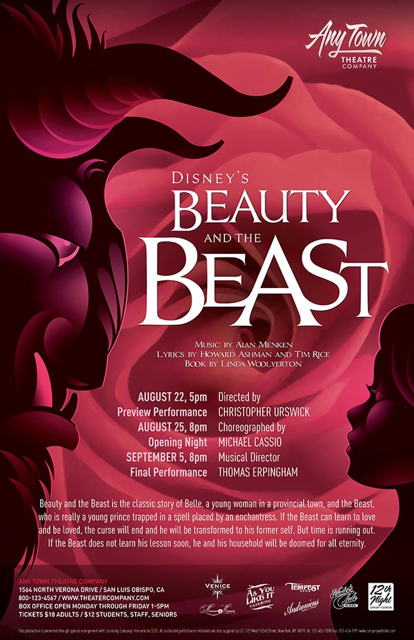 Beauty And The Beast Poster Design and Logo Pack