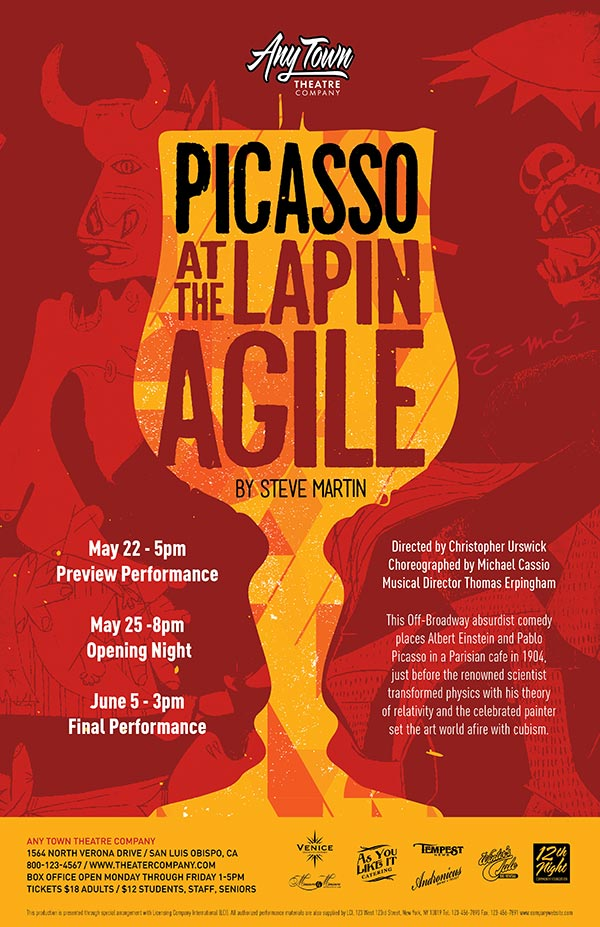 Picasso at the Lapin Agile Poster Design and Logo Pack