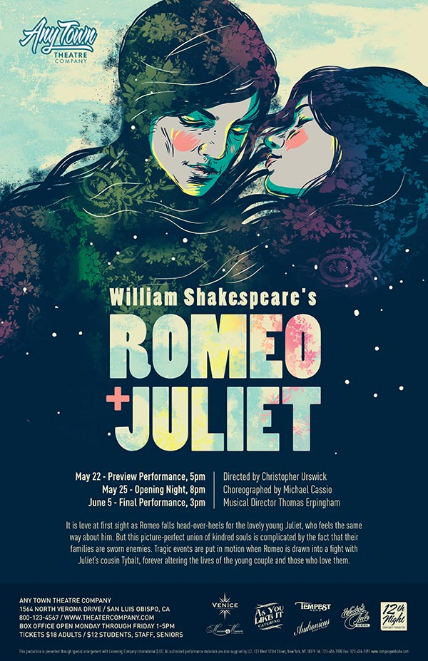 Romeo And Juliet Poster Design Logo Pack