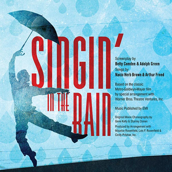 Singing in the Rain Poster Design and Logo Pack