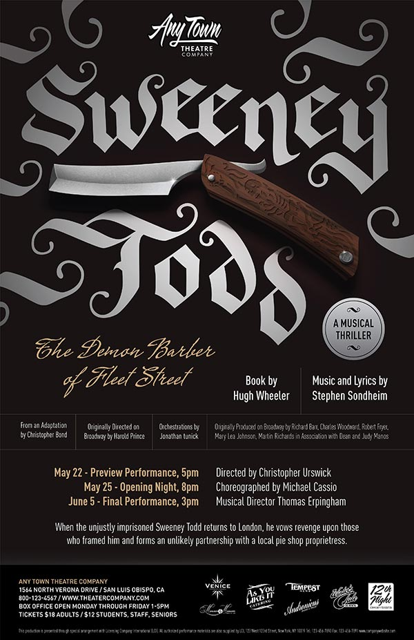 Sweeney Todd Poster Design and Logo Pack